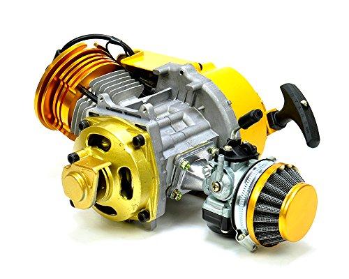 GOOFIT 15mm Racing Carburateur Kit 2 Stroke Carb Filtre /à air Stack 49cc Mini VTT Dirt Bike Pocket