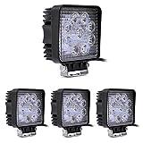 4 Faros LED de SLPRO, 27 W, como luz adicional para el coche, para el trabajo, 12 V, 24 V, clase energética A+