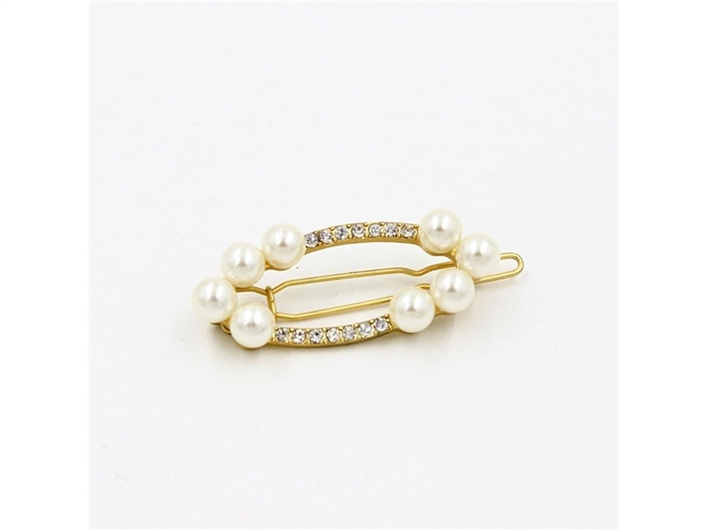 うっかり洗う輪郭Osize 美しいスタイル 真珠の宝石魅惑的なゴールドヘアクリップサイドクリップヘアピンヘアアクセサリー(示されているように)