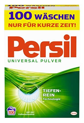 Persil Universal Pulver, Vollwaschmittel 100 (1 x 100) Waschladungen für hygienisch reine Wäsche