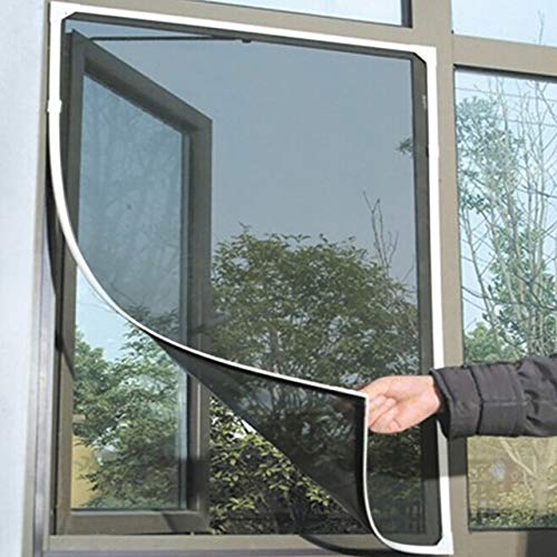L-Yune, 1pc Indoor-Insekt-Fliegen-Schirm-Vorhang Mesh-Bug Moskitonetz-Tür-Fenster Anti-Moskito-Netz for Küchen-Fenster (Farbe : Schwarz, Größe : 1.3 x 1.5m)