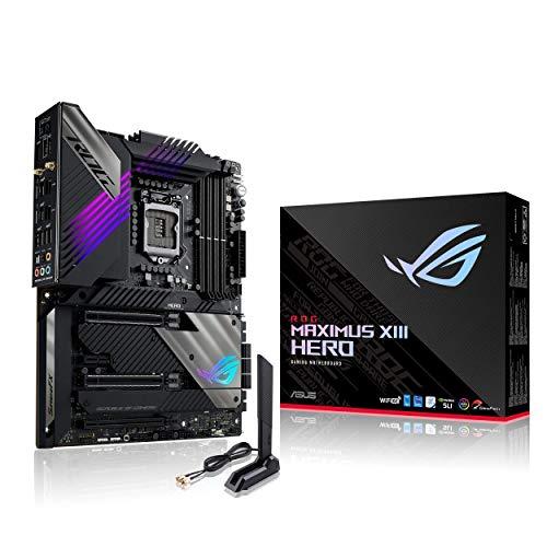 ASUS ROG MAXIMUS XIII HERO, Scheda madre Gaming Intel Z590 ATX, 14 + 2 fasi, PCIe 4.0, WiFi 6E (802.11ax), Dual Intel 2.5 Gb Lan, 4xM.2 dissipati, 2xThunderbolt 4, USB 3.2 Gen 2x2, Aura Sync RGB