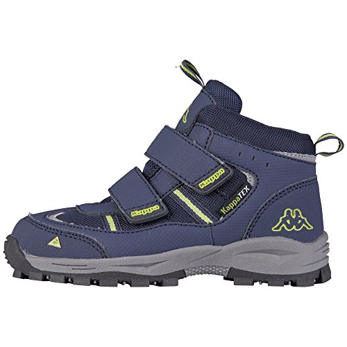 Kappa Unisex-Kinder Action TEX Kurzschaft Stiefel, Blau (6733 Navy/Lime), 34 EU