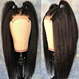 Andria Hair Lace Front Wig Yaki Straight Hair Wigs Synthetic Heat Resistant Long Hair Wigs with Baby Hair for Black Women 20 Inch