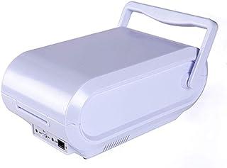 QINJLI kylskåp för bil, bärbar 3L-kapacitet, tyst tyst tyst tyst energisparenergi för hem och bil kyler och värmer