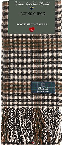 I Luv LTD Burns Check Tartan Clan Scarf 100% Soft Lambswool