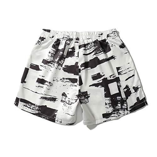 Bañador Camuflaje Hombre Playa Pantalones Corto Camuflaje Verano Traje de Baño Bóxers Bañadores Elástico con Cordón Estampado Shorts Casual Swimwear Yvelands