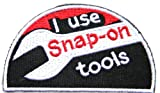 Snap on Tool Kit Logo Sign Sponsor Service Racing Patch Sew Iron on Applique Embroidered T shirt Jacket BY SURAPAN