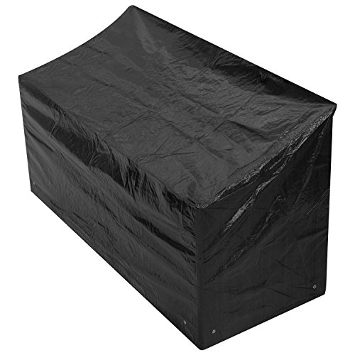 Woodside Black 4 Seater Outdoor Garden Bench Cover 2m x 0.68m x...