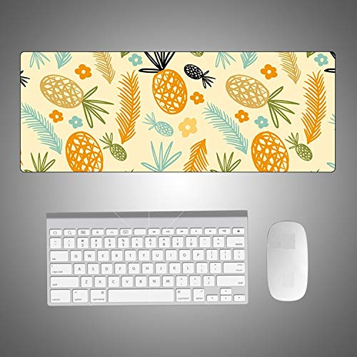 Muis Mat Geel Muis Pad Grote Tafelkleed Toetsenbord Gaming Laptop Rubber Bureau Pad Office Decoratie Mousepad Wasbaar, 800 * 400 * 3mm
