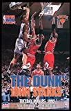 Original John Starks 'The Dunk' Poster by Starline Full Size OOP RARE