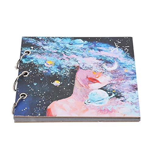 Bloc de notas portátil Sketch Dibujo Libro Sketching Art Painting(papel de tarjeta negra)