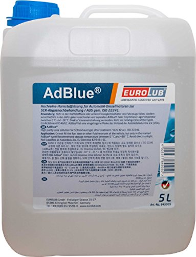 EUROLUB AdBlue Hochreine SCR Harnstofflösung ISO 22241, 5 Liter