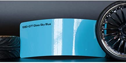 3M 1080 Gloss Sky Blue | G77 | Vinyl CAR WRAP Film (Sample 2.5in x 4in)