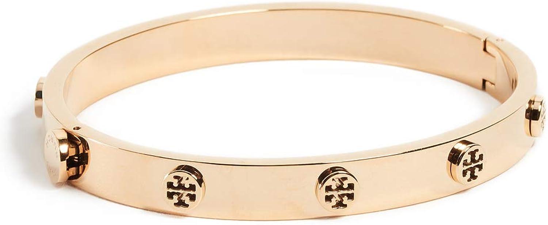 Tory Burch Women's Logo Stud Hinge Bracelet