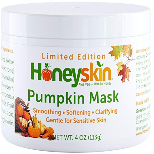 Organic Pumpkin Face Mask - Deep Cleansing Facial Moisturizer - for Sensitive, Oily and Dry Skin - Anti Aging and Wrinkle - Natural Skin Care for Men and Women (4oz)