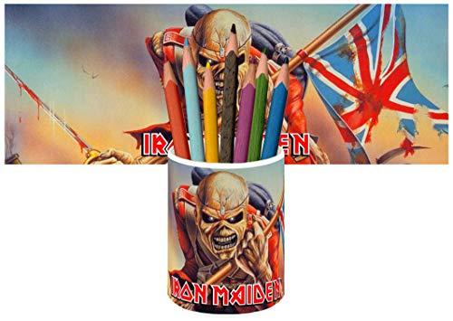 Iron Maiden The Trooper Portalápices Vaso Cerámica Pencil Holders Ce