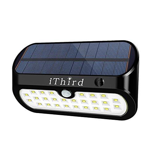 Luci solari, Luci da esterno a sensore di movimento solare iThird 26 LED Luci di sicurezza ad energia solare Luci da parete impermeabili senza fili per garage Patio Porta