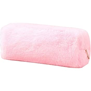 Momangel Lovely Girl's Plush Fluffy Pencil Case Makeup Pouch