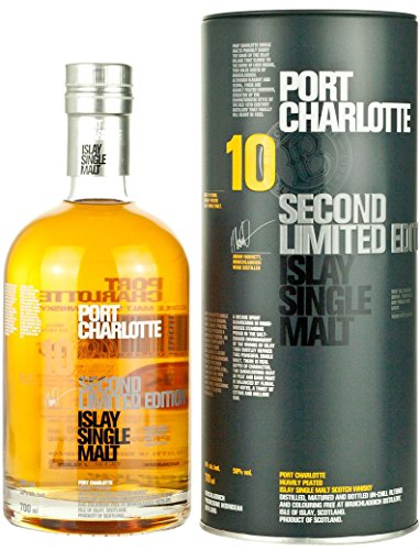 Port Charlotte 10 Years Old Second Limited Edition Whisky mit Geschenkverpackung (1 x 0.7 l)