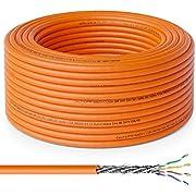 deleyCON 20m Cat.7 Cable de Instalación Cobre Rígido S/FTP PIMF Cable de Red Cable de Instalación Cable LAN Cable de Ethernet Cable de Datos Gigabit CAT7 10Gbit 1000MHz LSZH Libre de Halógenos DOP