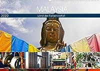 Malaysia - Land der Farbenvielfalt (Wandkalender 2022 DIN A2 quer): Eindrucksvolle und farbenfrohe Eindruecke eines besonderen asiatischen Landes. (Monatskalender, 14 Seiten )