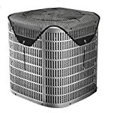 Foozet All Seasons Air Conditioner Cover Leaf Guard Central AC Cover Top for Outside Units Black (Mesh, 36'×36')