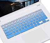 Keyboard Skin Cover Compatible Acer Chromebook Spin 311 CP311 C738T R 11 CB5-132T/Acer Chromebook 11 CB3-131 CB3-132 / 13.3' Chromebook Spin 713/ Chromebook 14 CB3-431 CP5-471, Gradual Blue