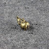 ヴィンテージ真鍮ラットヘビ虎ドラゴンウサギマウス銅動物ミニチュア置物家の装飾工芸品デスクトップの装飾,Rhino-22.6g