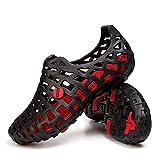 Gracosy Chaussures de Plage Homme Femme - Noir/Rouge - 42 EU
