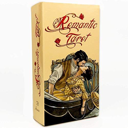 FFJD Baraja Tarot 78 Piezas RomáNticas Cartas De Tarot EsotéRicas Juegos De AdivinacióN para Juegos De Mesa AdivinacióN Familia Naipes Regalo