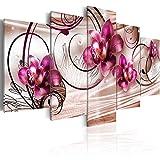 murando Cuadro en Lienzo 200x100 cm Flores Impresión de 5 Piezas Material Tejido no...