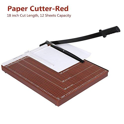 Paper Cutter Guillotine 18 Inch, Heavy Duty A3 A4 Wooden Guillotine Photo...