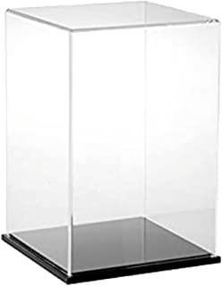 HOMYL Modern Clear Acrylic Toy Display Show Case Dustproof Box Large Ornament Protection Tool 13x13x23cm