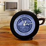 Our contemporary Table clocks measure approximately 6 cm in diameter , features a durable black plastic case & clear lens with a modern quartz movement to keep you on time. The unique printed face design looks great & is sure to make your table or de...