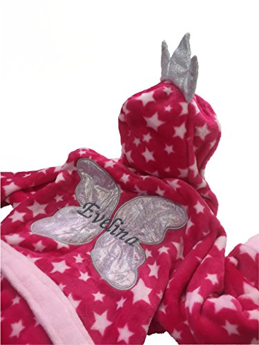 Peignoir de bain brodé Rose 3-4 ans Cadeau idéal