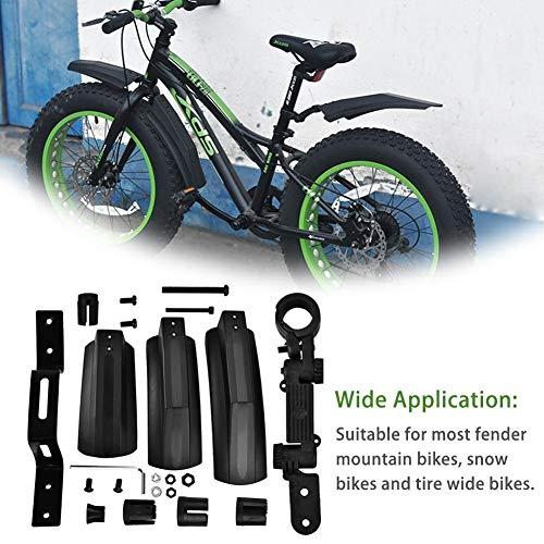 Fahrrad Schutzblech Mudguard Schnee Fahrrad Radschützer Fat Fahrrad Fender 2ST vorn hinten Spritzschutz for 20-Zoll-26inch MTB Fahrrad Radfahren Fahrrad Fenders