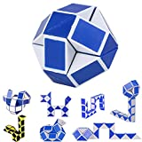 Plastic Puzzle Cube,Stress Relief Toy Cool Snake Magic Variety Popular Twist Kids Game Transformable Gift Puzzle Squeeze Sensory Toy for Kids Home School Party