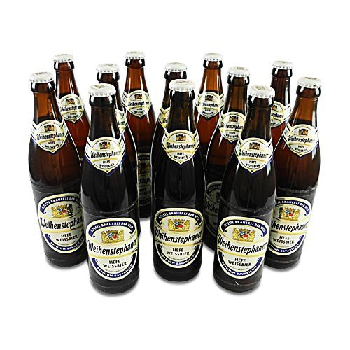 Weihenstephaner Hefeweissbier Hell (12 Flaschen à 0,5 l / 5,4% vol.)