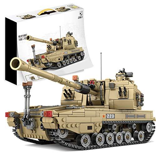 Bybo Técnica tanques de construcción, tanque militar 2 en 1, 1499 bloques de construcción compatibles con Lego