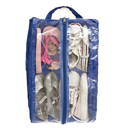 Saco Organizador De Sapato Calçado - Azul, Momis Petit, Azul, Único