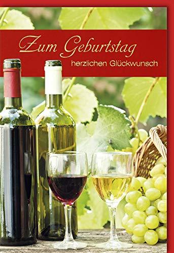 Verlag Dominique - Verjaardagskaart met envelop - witte wijn