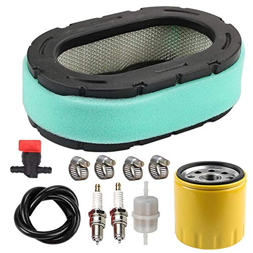 32-083-09-S Air Filter with 52 050 02-S Oil Filter Spark Plug Tune Up Kit for Kohler 32 083 09 32 883 09-S1 KT610 KT620 KT715 KT725 KT730 KT735 KT740 KT745 19HP-26HP Engine MTD Lawn Mower by LIYYOO