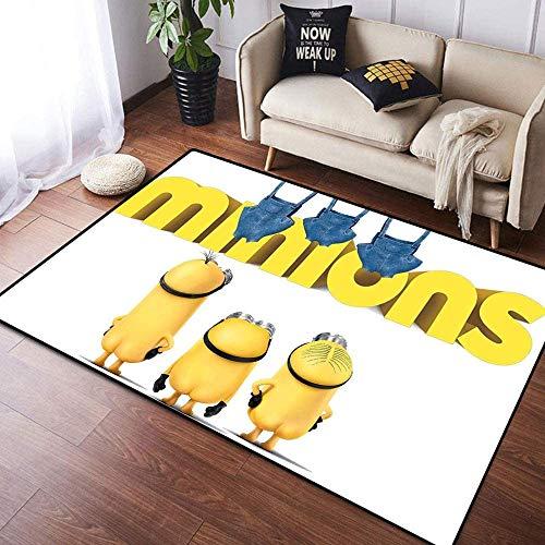 BILIVAN Minions Teppich für Heimdekoration, großer Bodenteppich, Yogamatte, rutschfest, für Kinderzimmer, Spielzimmer, Schlafzimmer (60 x 90 cm)