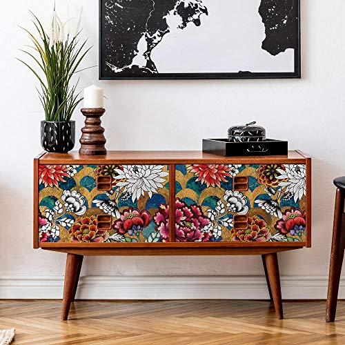 kina RA0146 Pellicole adesive per mobili e pareti, Rotoli Carta Adesiva altissima risoluzione con Varie Misure, Wrapping mobili Piastrelle tavoli armadi cucine