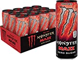 Monster Energy Maxx Rad Red, Zero Sugar, Energy Drink, 12 Oz (Pack Of 12)