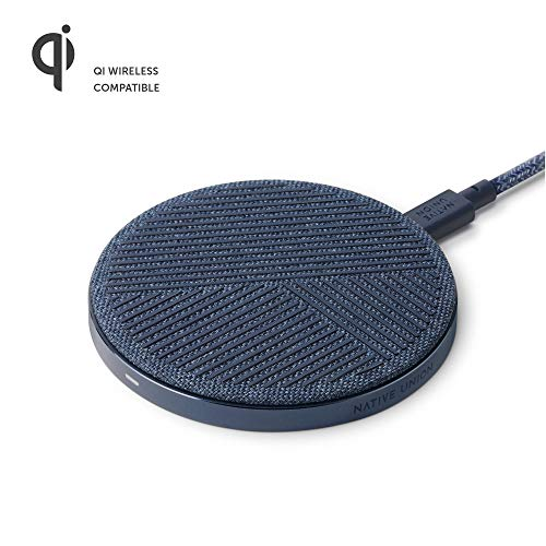 Native Union Drop - High Speed Wireless Charger [Qi Certified] 10W Non-Slip Fast Wireless Charging Pad - Compatible with iPhone 11/11 Pro/11 Pro Max/XS/XS Max/XR/X/8/8 Plus (Slate)