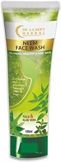 SCDHRL Herbal Neem Face Wash with Scrubbing Beads-With Tulsi & Aloe Vera-Exfoliates Skin Impurities-100 ml