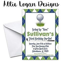 Best mini golf party invitations kids will love golf themed par tee birthday invitation filmwisefo Choice Image