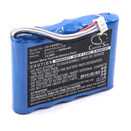 vhbw Bateria NiMH 2000mAh (6V) para tecnologia medica, bomba de infusion Fresenius Agilia como BPAFRAGILIAS.